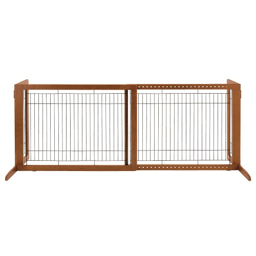 R94147 - Richell Wooden Freestanding Pet Gate HL Autumn or White