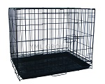 SA42G - YML 42-inch 2-Door Dog Kennel Cage with Bottom Grate