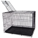 SA20G - YML 20-inch Small Single Door Dog Cage, Floor Grate, Crate Tray