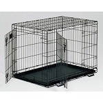 LS-1622DD - MidWest Life Stages 2 Door BLACK Small Dog Crate 22-inch