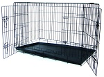 DSA48 - YML 48-inch Folding Heavy Duty 2-Door Dog Crate